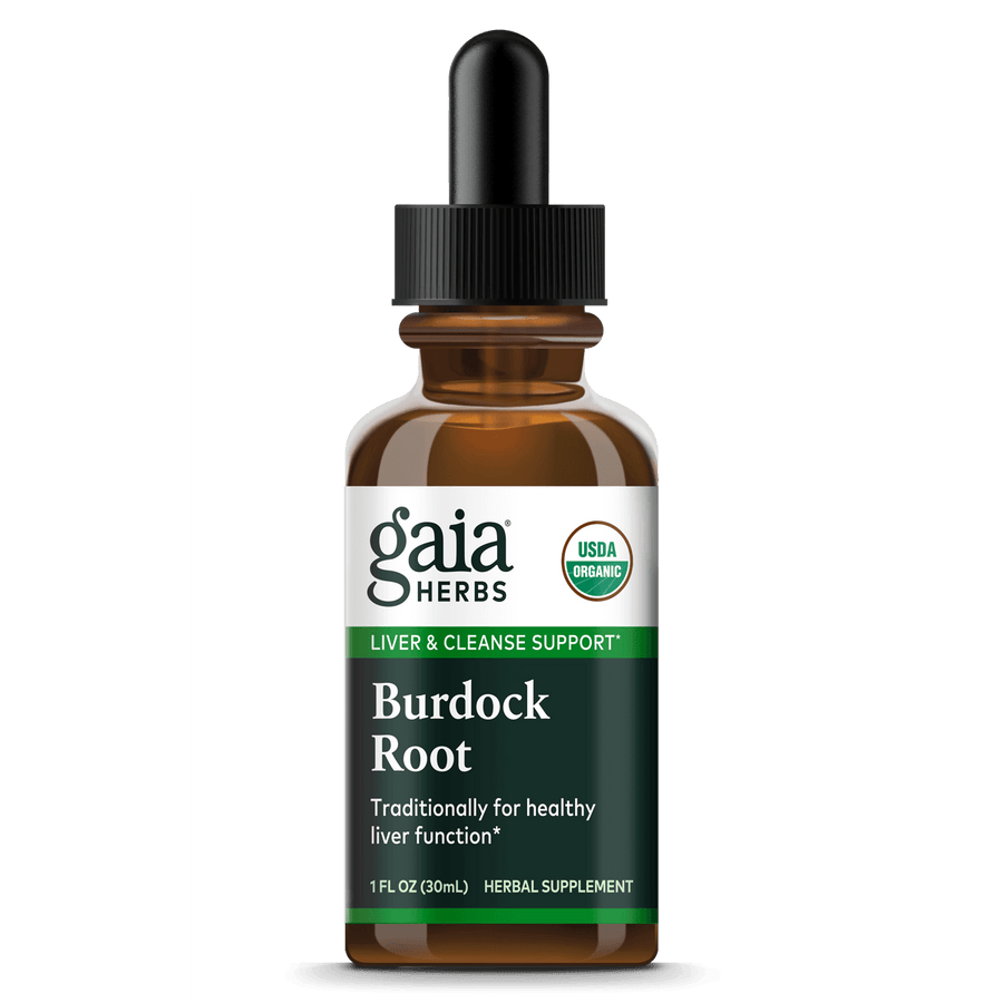 Gaia Herbs Burdock Root, Certified Organic for Liver & Cleanse Support || 1 oz