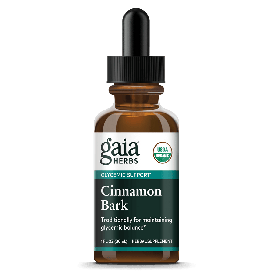 Gaia Herbs Cinnamon Bark, Certified Organic for Glycemic Support
