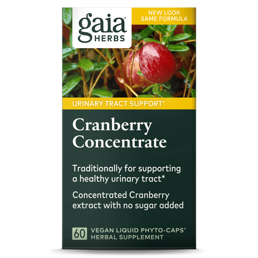 Gaia Herbs Cranberry Concentrate carton front || 60 ct