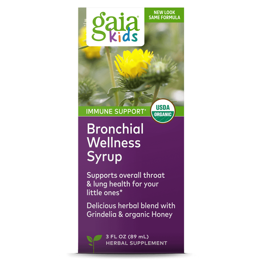 GaiaKids® Bronchial Wellness Syrup carton front || 3 oz