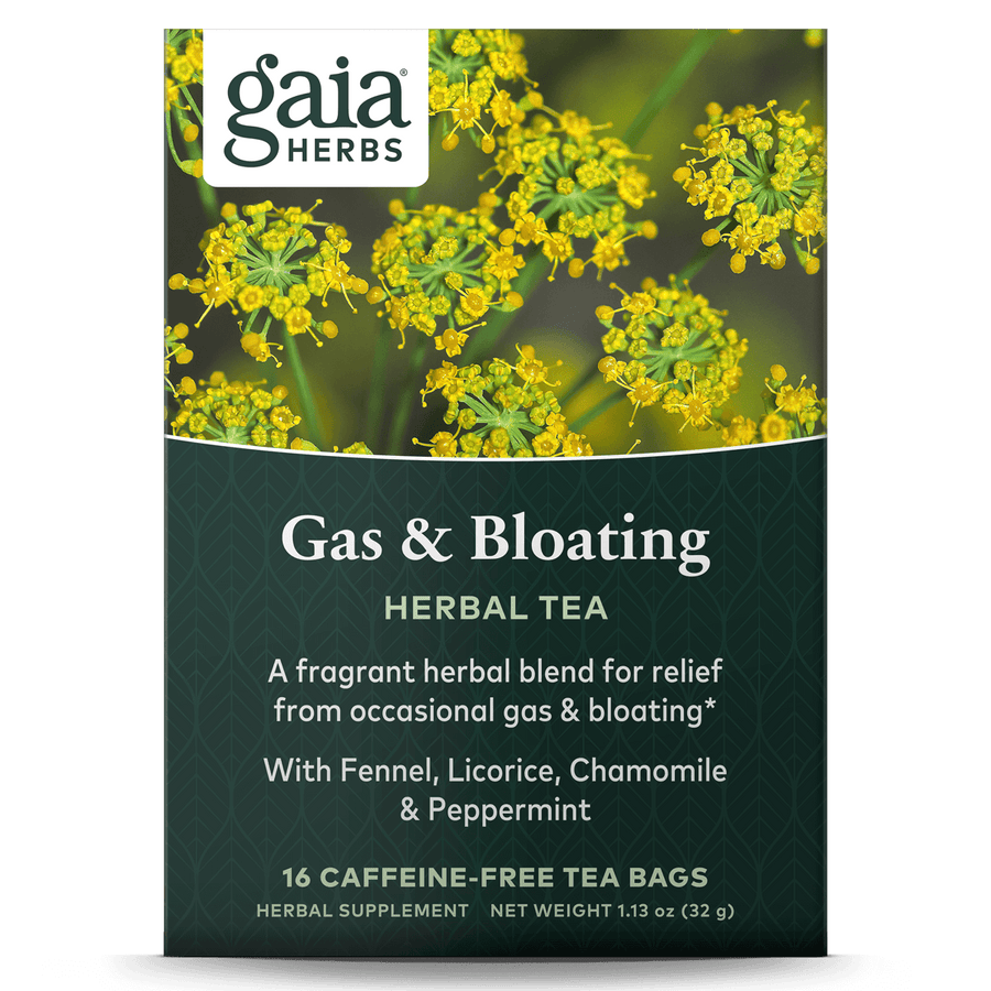 Gaia Herbs Gas & Bloating Herbal Tea for Digestive Support || 16 ct