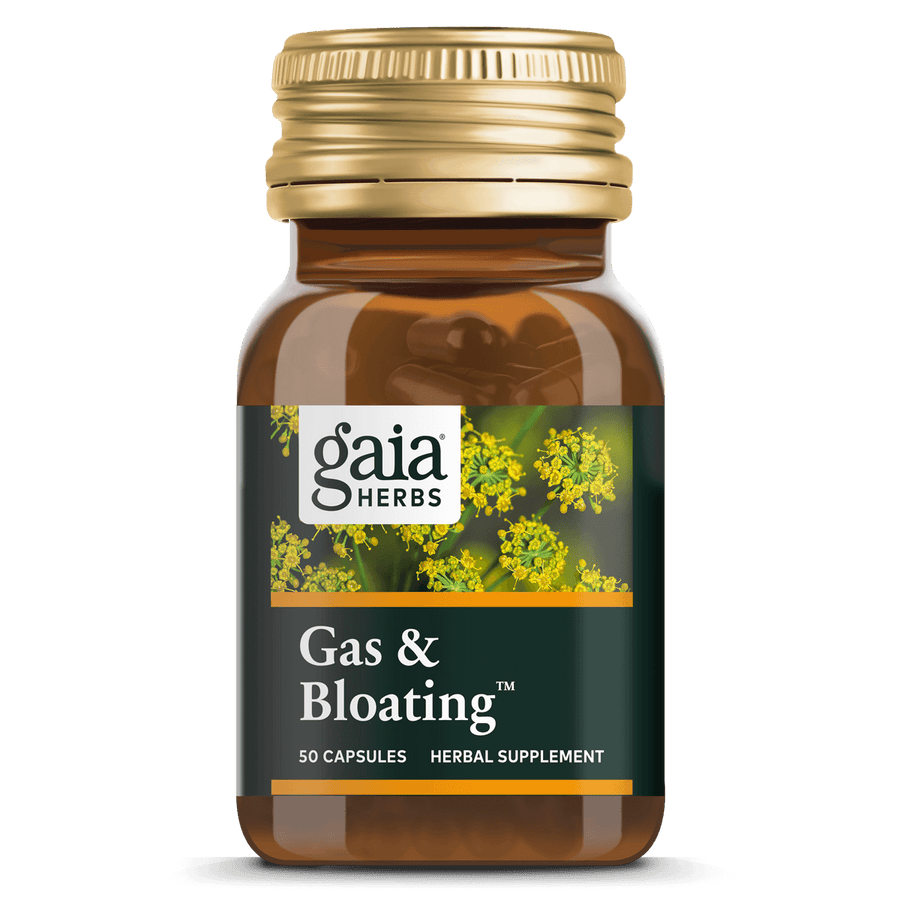 Gaia Herbs Gas & Bloating for Digestive Support || 50 ct