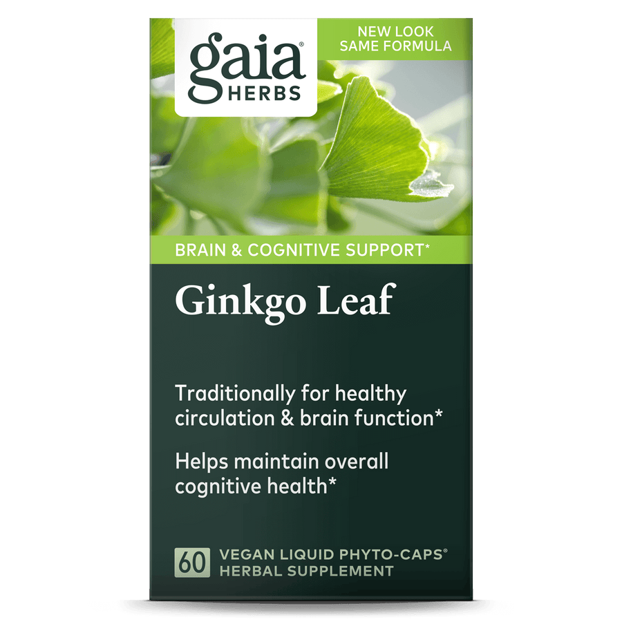 Gaia Herbs Ginkgo Leaf for Brain & Cognitive Support