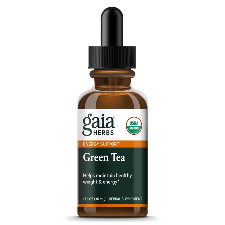 Gaia Herbs Green Tea, Certified Organic for Energy Support
