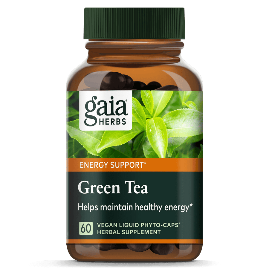 Gaia Herbs Green Tea for Energy Support || 60 ct