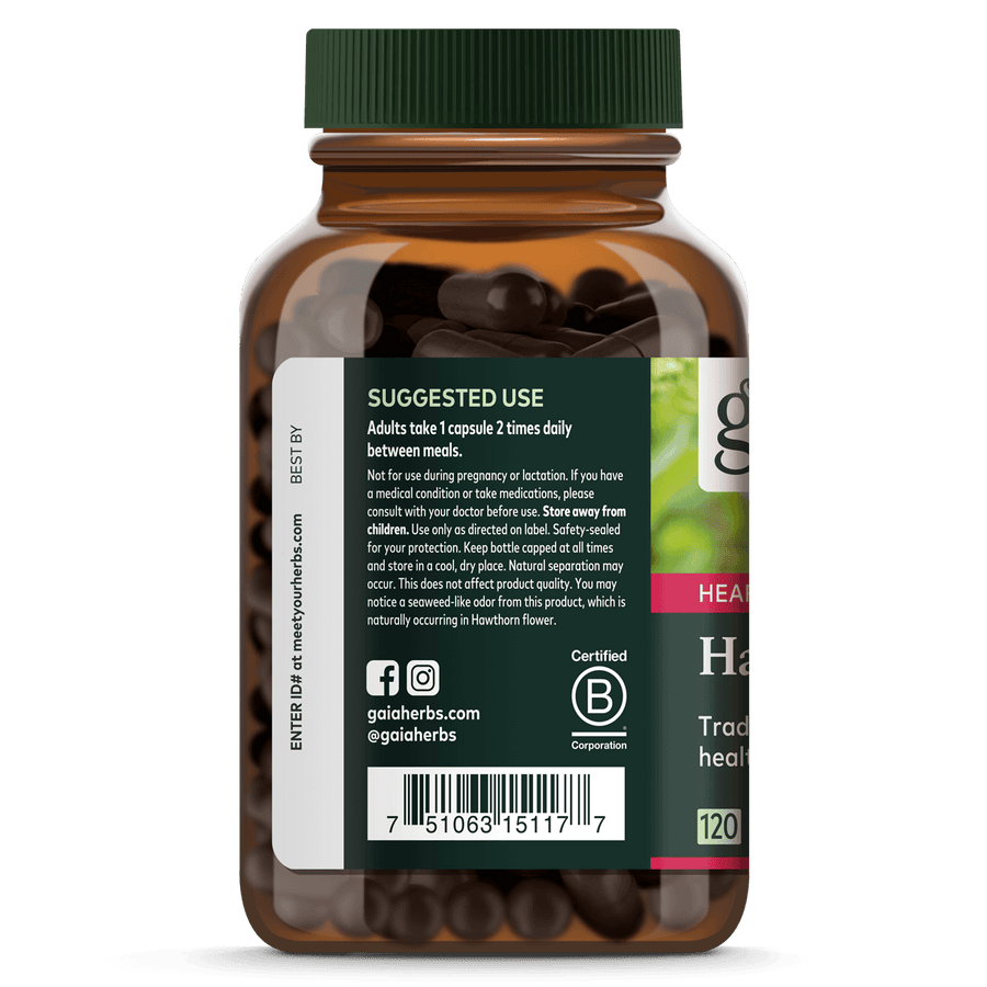 Gaia Herbs Hawthorn Supreme suggested use || 120 ct