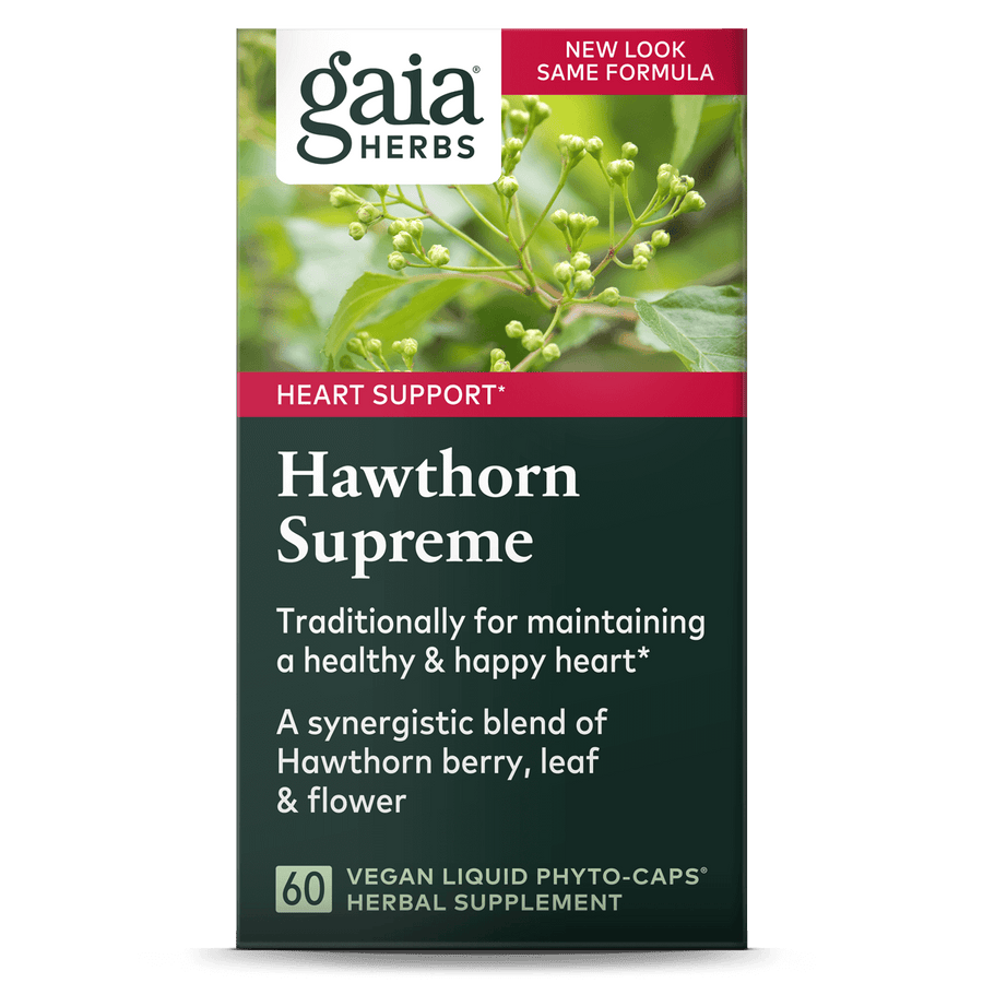 Gaia Herbs Hawthorn Supreme for Heart Support || 60 ct