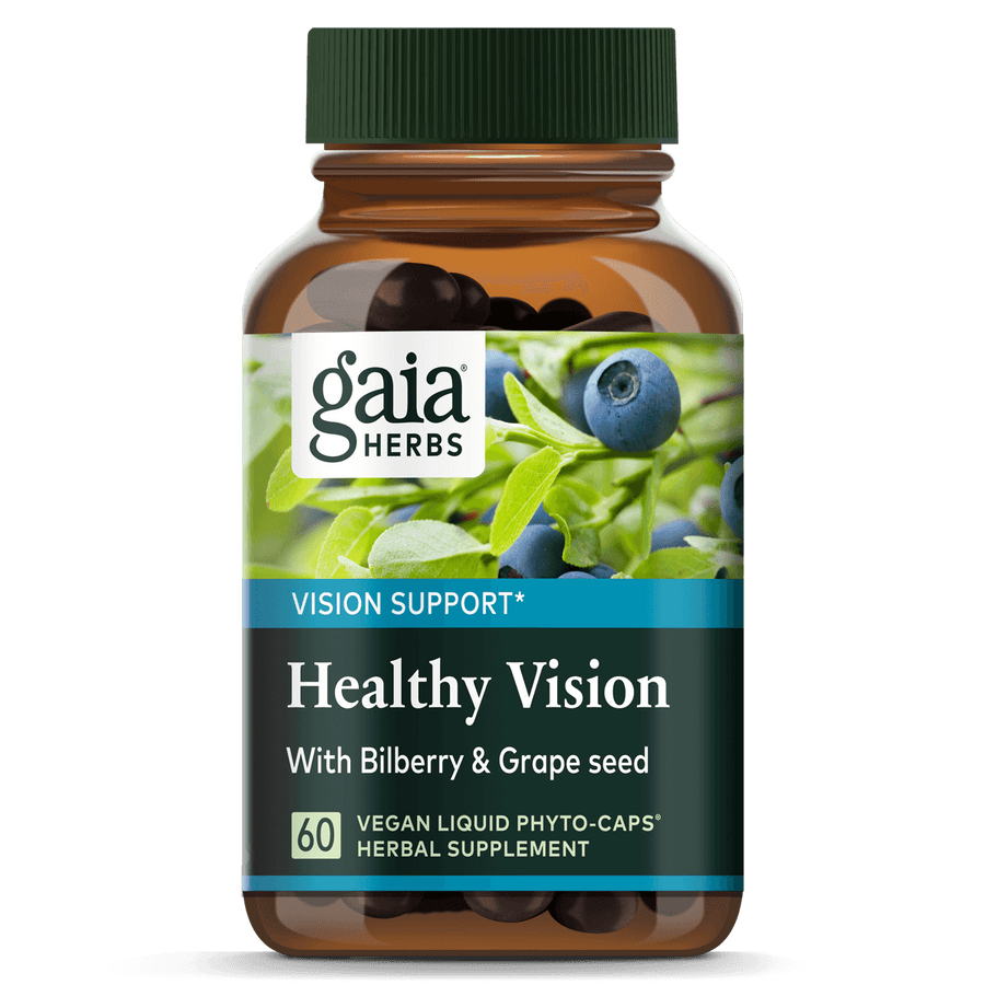 Gaia Herbs Healthy Vision for Vision Support || 60 ct