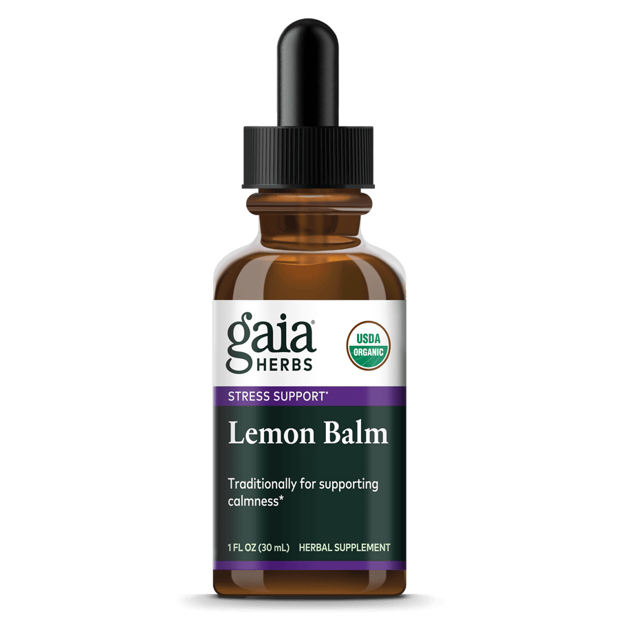 Gaia Herbs Lemon Balm, Certified Organic for Stress Support