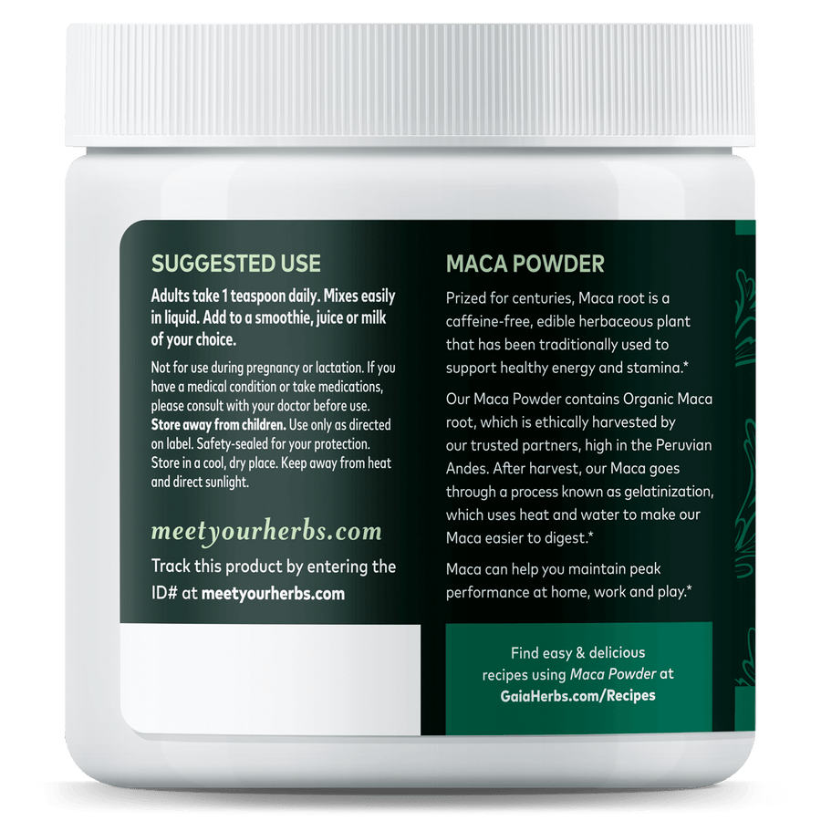 Gaia Herbs Maca Powder for Energy Support
