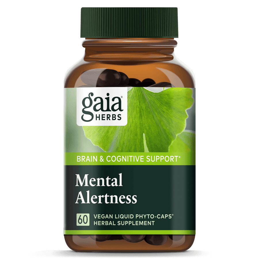 Gaia Herbs Mental Alertness for Brain & Cognitive Support