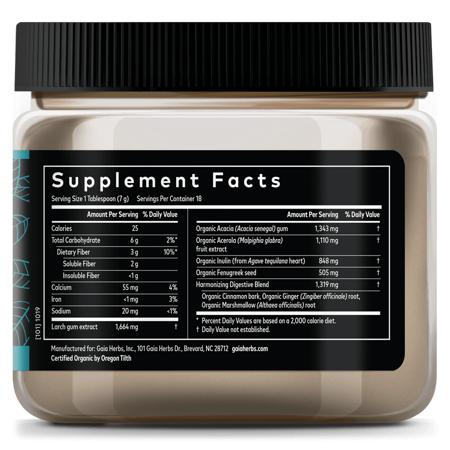 Gaia Herbs Microbiome Food supplement facts