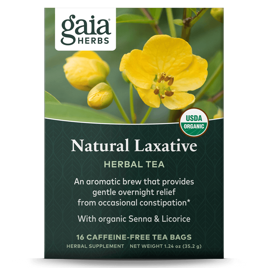 Gaia Herbs Natural Laxative Herbal Tea for Digestive Support || 16 ct