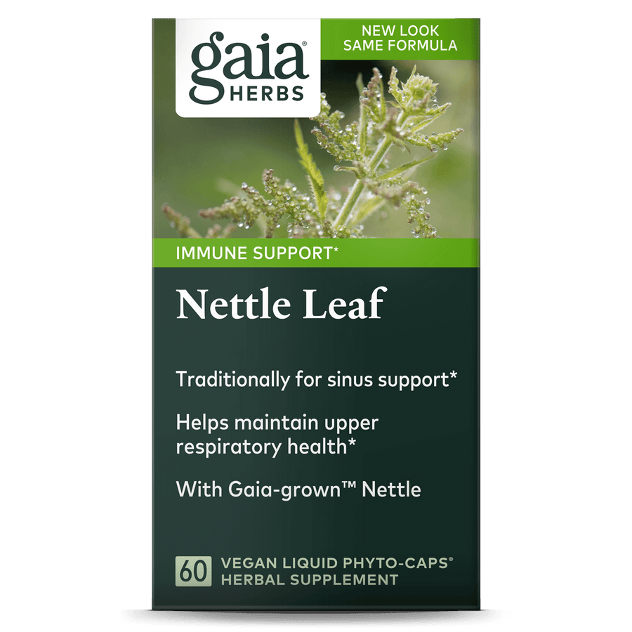 Gaia Herbs Nettle Leaf carton front || 60 ct