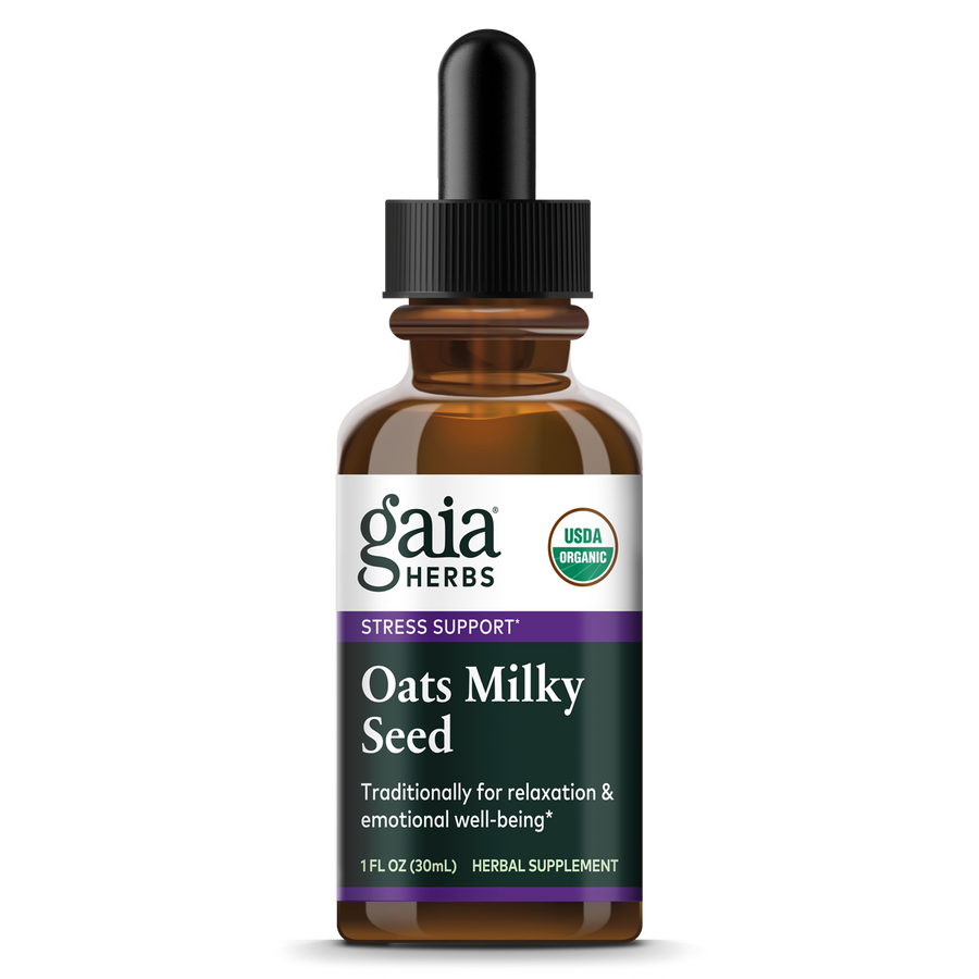 Gaia Herbs Oats Milky Seed, Certified Organic for Stress Support