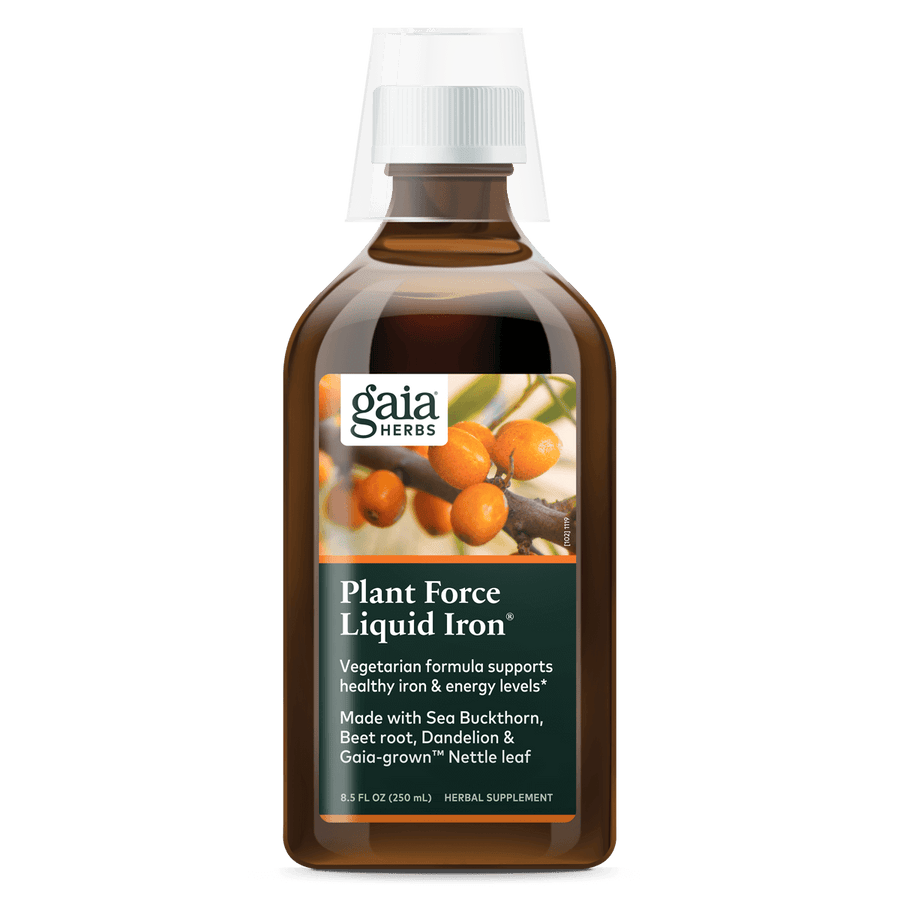 Gaia Herbs PlantForce Liquid Iron for Energy Support || 8.5 oz