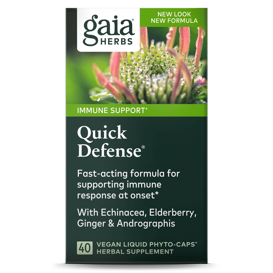 Gaia Herbs Quick Defense carton front || 40 ct