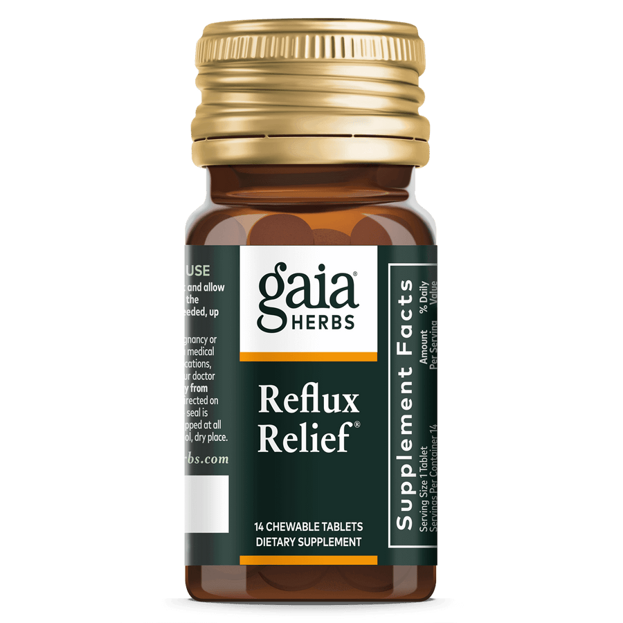 Gaia Herbs Reflux Relief for Digestive Support || 14 ct