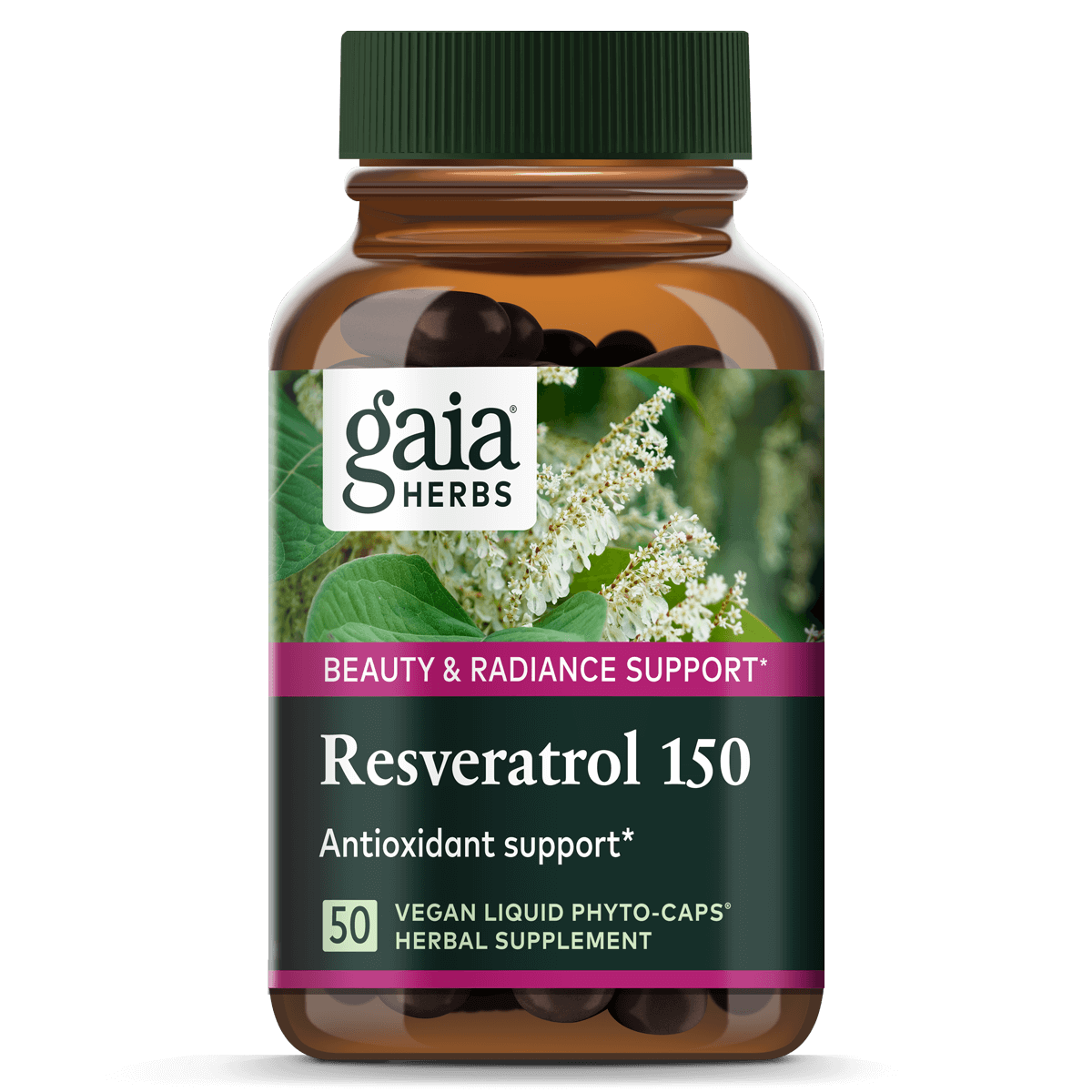 Resveratrol 150 For Beauty Radiance Support Gaia Herbs