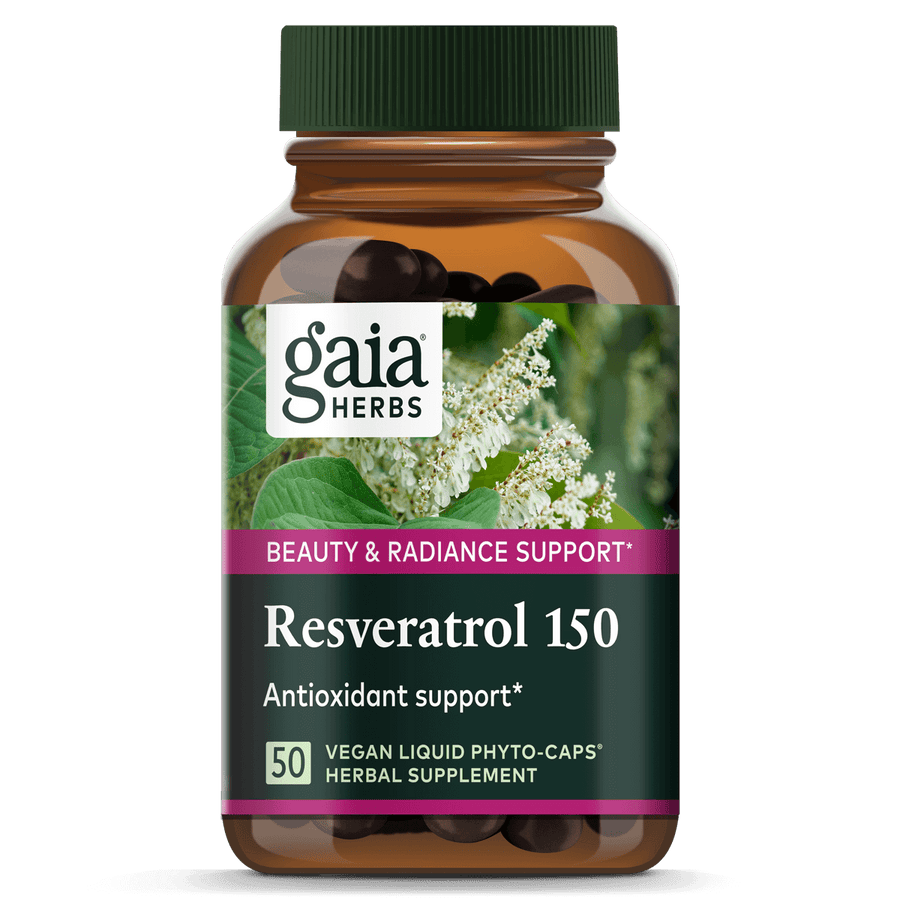 Gaia Herbs Resveratrol 150 for Beauty & Radiance Support || 50 ct