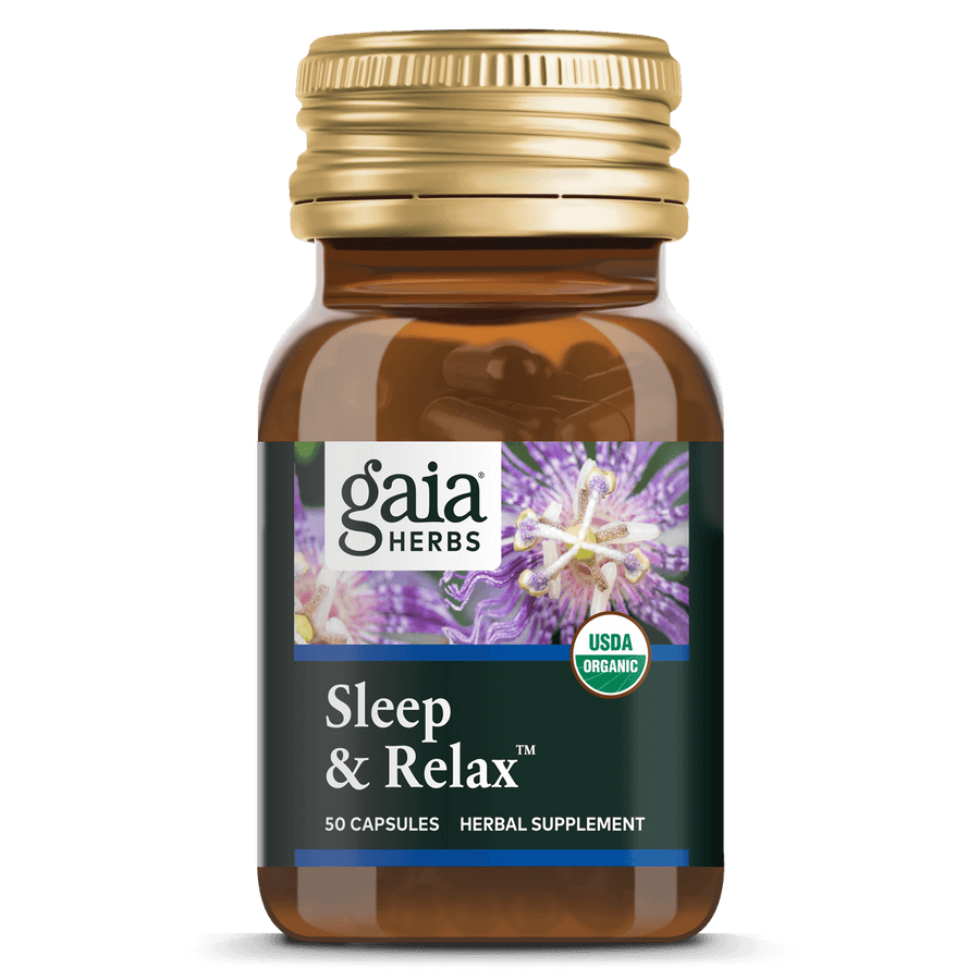 Gaia Herbs Sleep & Relax for Sleep Support || 50 ct