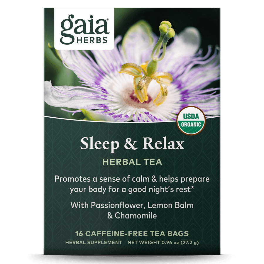 Gaia Herbs Sleep & Relax Herbal Tea for Sleep Support || 16 ct