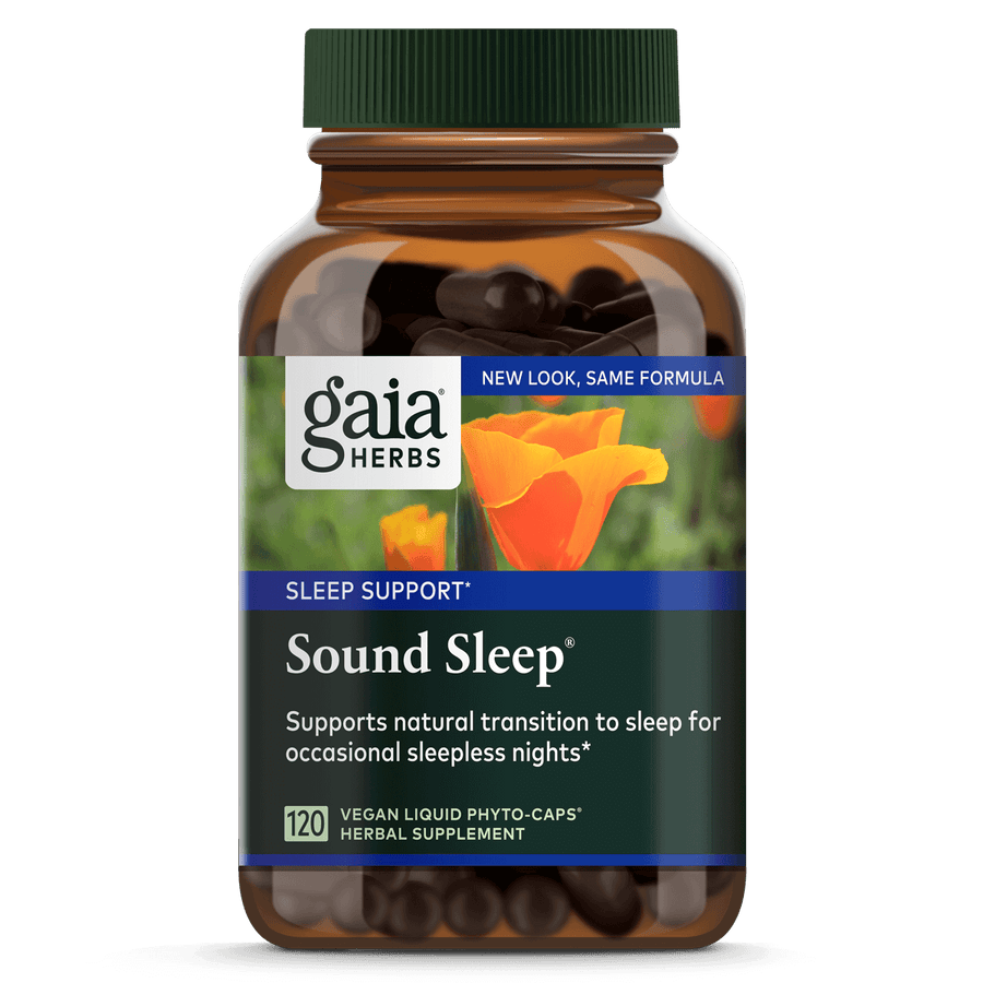 Gaia Herbs Sound Sleep for Sleep Support || 120 ct