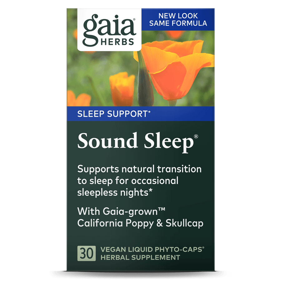 Gaia Herbs Sound Sleep carton front || 30 ct