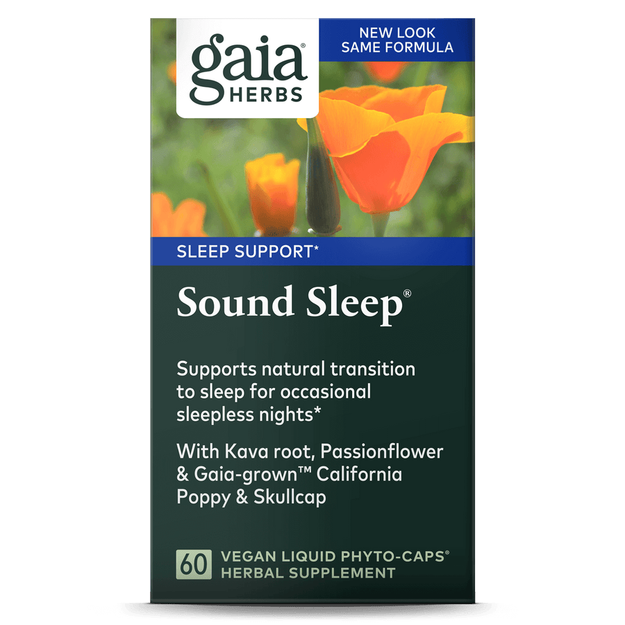 Gaia Herbs Sound Sleep carton front || 60 ct