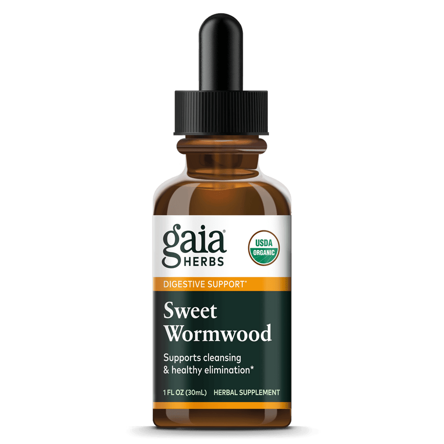 Gaia Herbs Sweet Wormwood, Certified Organic for Digestive Support || 1 oz