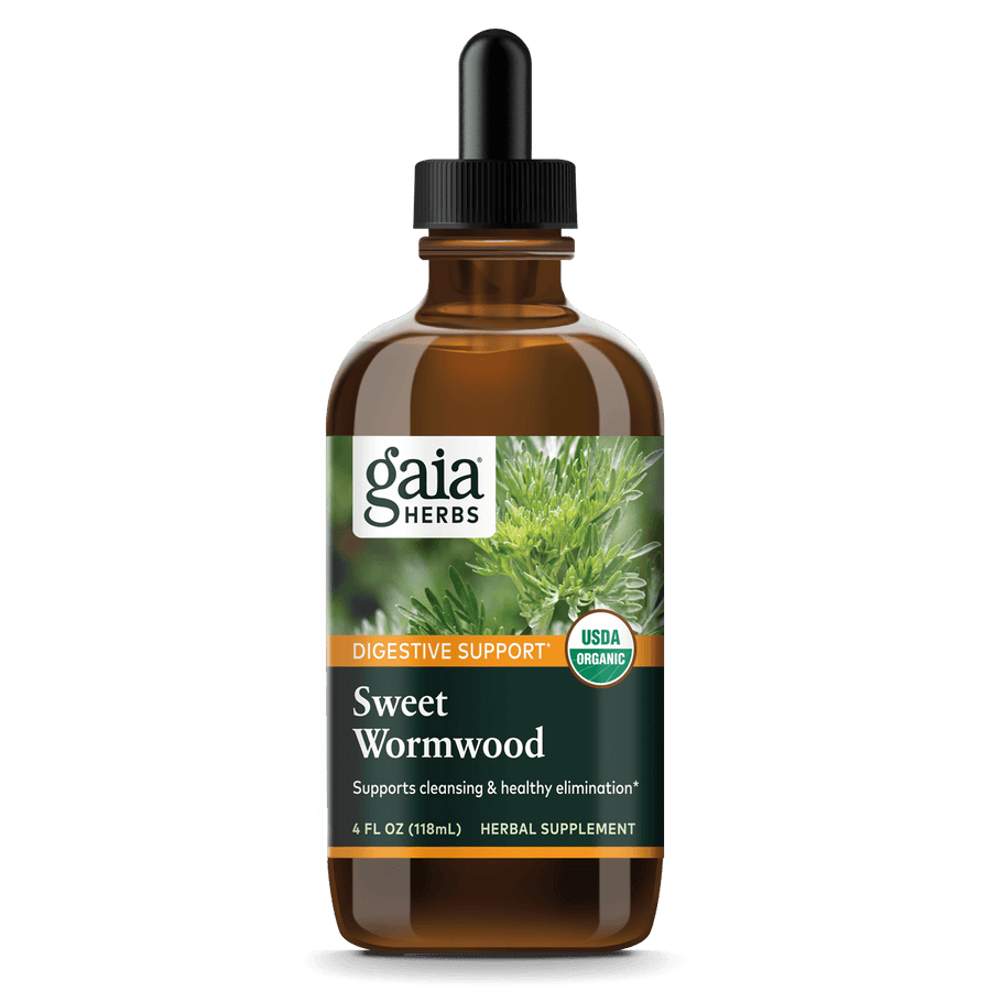 Gaia Herbs Sweet Wormwood, Certified Organic for Digestive Support || 4 oz