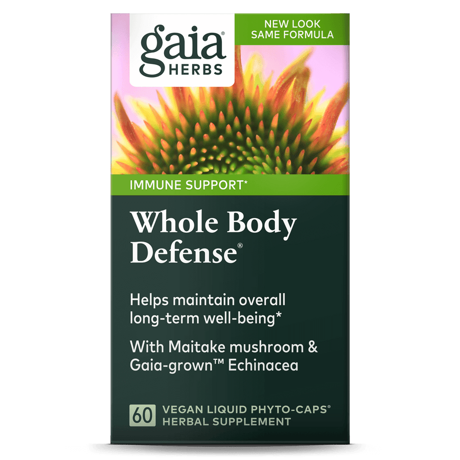Gaia Herbs Whole Body Defense carton front || 60 ct