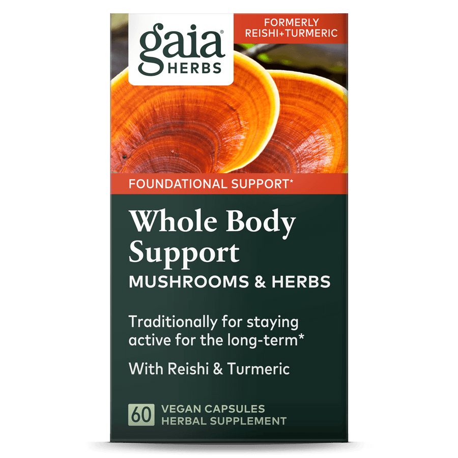 Gaia Herbs Whole Body Support front carton || 60 ct