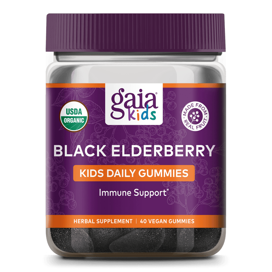 GaiaKids® Black Elderberry Kids Daily Gummies for Immune Support || 40 ct