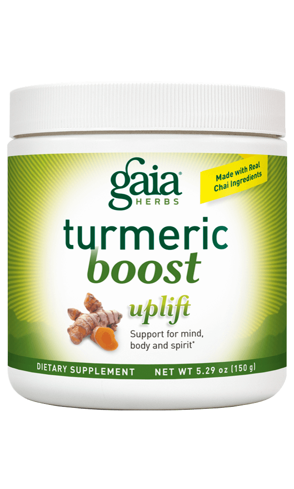 Gaia Herbs TurmericBoost Uplift for Foundational Support