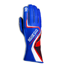 Load image into Gallery viewer, SPARCO Record 2020 Karting Gloves -  Blue/Red / Gray / Yellow / Black/Red