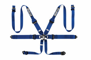 "SPARCO Competition Aluminum Harness PD 3""/2"" 6 Points HANS [FIA] Blue / Red / Black"
