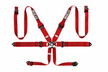 "Load image into Gallery viewer, SPARCO Competition Aluminum Harness PD 3""/2"" 6 Points HANS [FIA] Blue / Red / Black"
