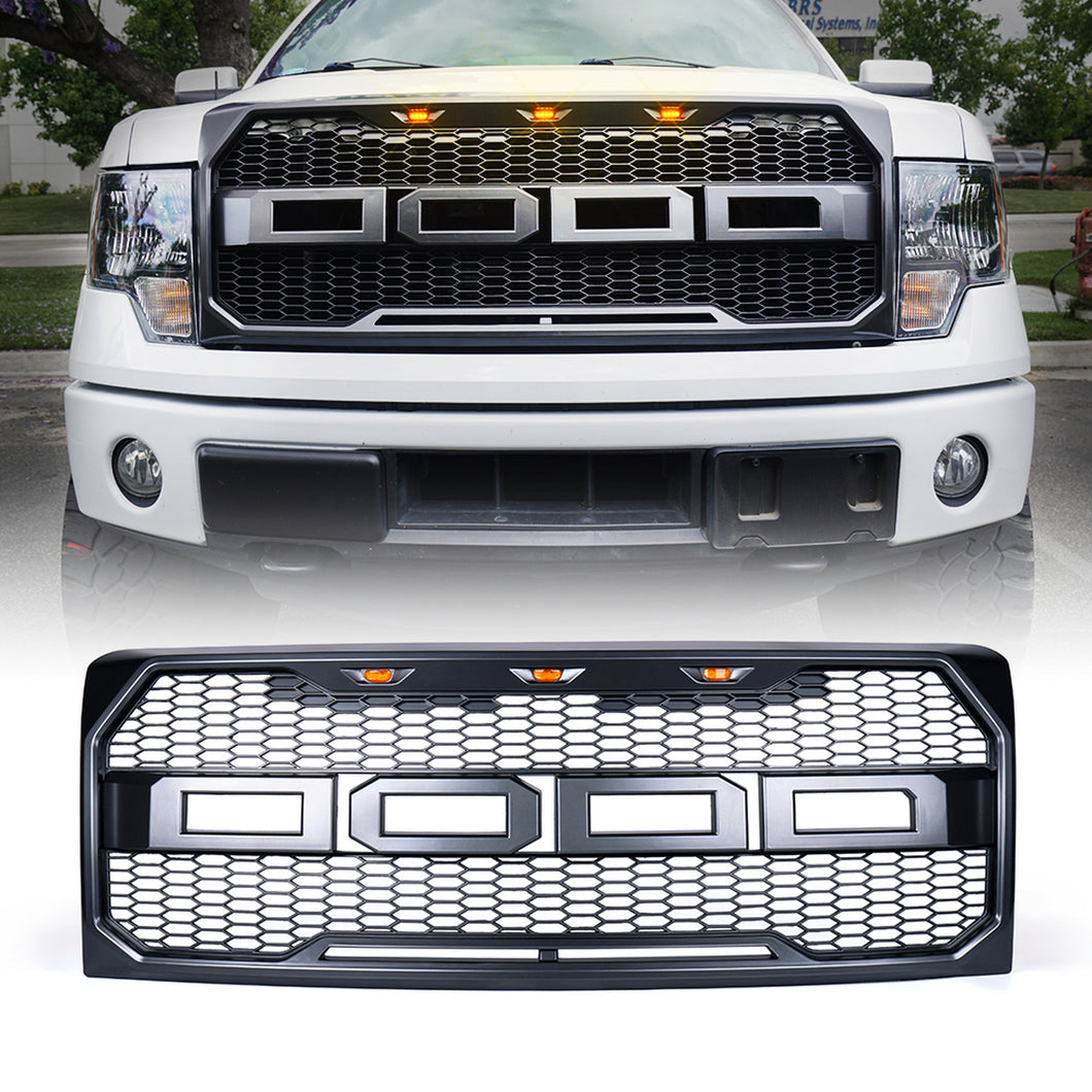 Xprite Raptor Style Grill Ford F150 (2009-2014) w/ LED Running Lights