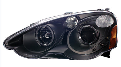 CG Projector Headlights Acura RSX [Halo G2 - LED Amber] (2002-2004) Black or Chrome