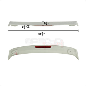 Spec-D Spoiler Toyota Corolla (2003-2008) Wing Includes LED Light