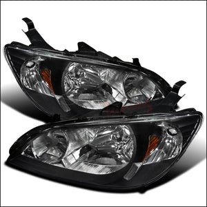 Spec-D OEM Replacement Headlights Honda Civic [JDM Euro] (04-05) Black Housing
