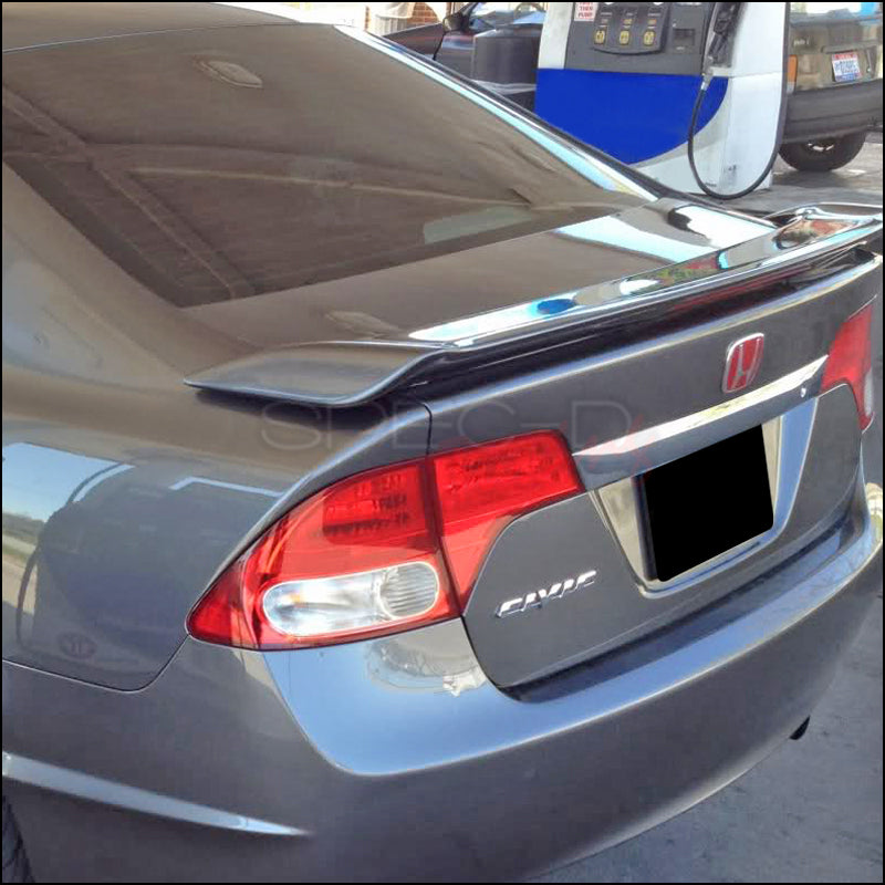 Spec-D Spoiler Honda Civic Sedan (2006-2011) OEM Si Style Wing