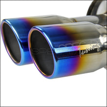 Load image into Gallery viewer, Spec-D Tuning Exhaust Subaru WRX/STi Sedan [Burnt Tips] (08-14) Quad Blue Tips