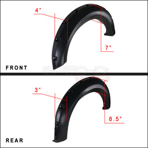 Spec-D Fender Flares Ford F150 [Styleside] (2009-2014) FDF-F15009A-PK-MP