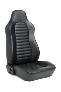 Cipher Auto Black Synthetic Leather Racing Seats (Jeep - Pair) CPA3001PBK