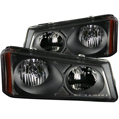 Anzo Crystal Headlights Chevy Silverado / Avalanche (2003-2006) Chrome or Black