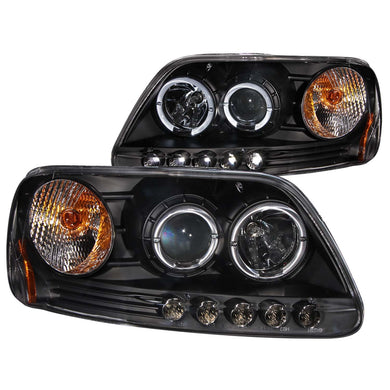 Anzo Projector Headlights Ford F150 (97-03) Expedition (97-02) [LED Halo] Black or Chrome