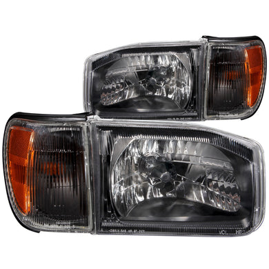 Anzo Crystal Headlights Nissan Pathfinder (99-04) Black w/ Corner Lights