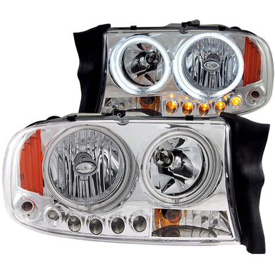 Anzo Crystal Headlights Dodge Dakota (97-04) Durango (98-03) [CCFL Halo] Chrome or Black